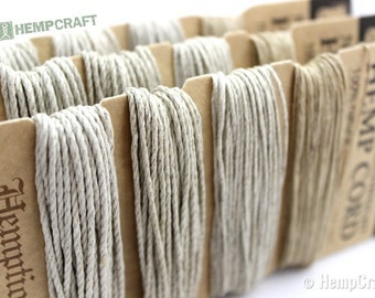 Natural Hemp Twine - All Natural High Quality 1mm Card Four Pack Hemp Cord