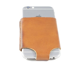 iPhone 6 leather belt holster BLACK