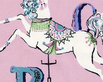 Dear Stella Carousel in Blush cotton fabric, 1 yard