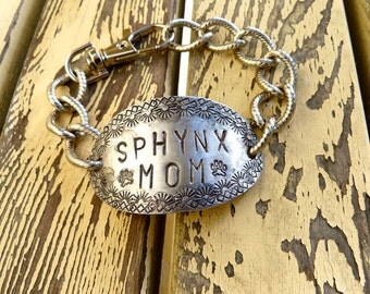 Cat, Sphynx Mom, Sphynx Jewelry, Sphynx Bracelet