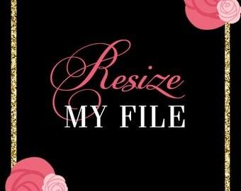 Resize Fee