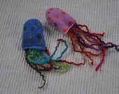 """cat toy """"Octo-Pussy"""" catnip/wool filled,felted"""