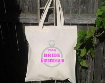 Team Bride Totes, Wedding Welcome Tote Bag, Bridesmaid Tote