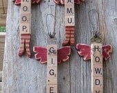 Items Similar To Gig Em Scrabble Tile Angel On Etsy