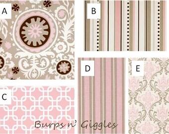 Baby Girl Crib Bedding Set..Crib Bumper, Crib Skirt..Bella Suzani