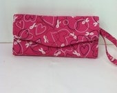 Breast Cancer Awareness Necessary Clutch Wallet Custom Order.