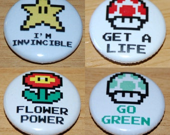 Items Similar To Red Mario Bros Perler Bead Mushroom