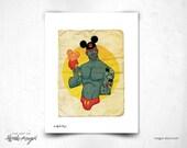 Un Ratoncito (a little Mouse) - 8x11 Print / Sexy Disney Fan