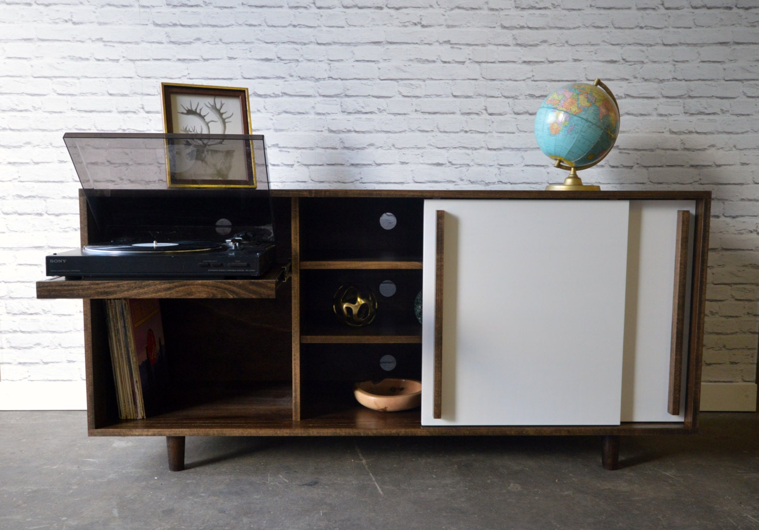 Newbery Cabinet With Record Player Pull Out Shelf
