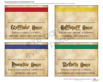 Harry Potter Inspired - Hogwarts PRINTABLE Party LABELS - Hogwarts Birthday Party