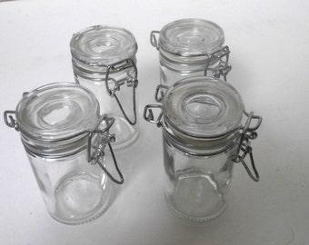 Set 4 Mini Canning Jars