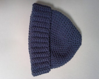Crocheted Blue Stocking Cap