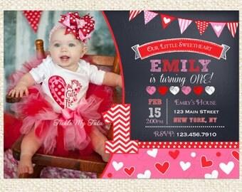 Valentine Birthday Invitation