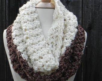 DIY CROCHET KIT, Chunky Cowl Crochet Pattern, Crochet Scarf pattern, Do It Yourself Kit, Crochet Kit