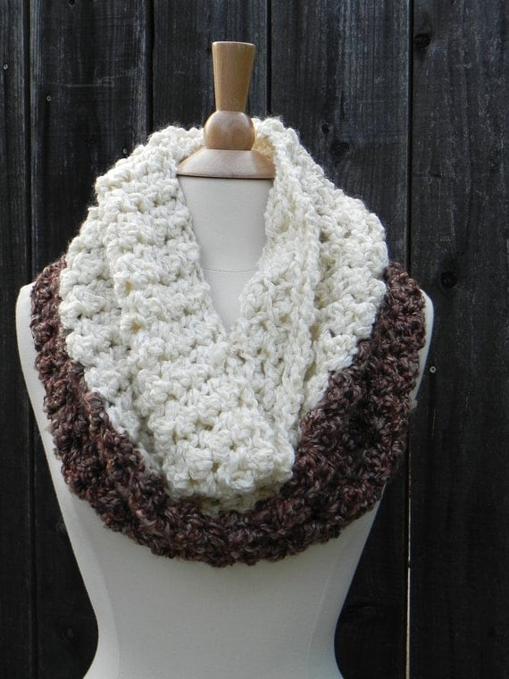 Crochet Patterns Kits : DIY CROCHET KIT, Chunky Cowl Crochet Pattern, Crochet Scarf pattern ...