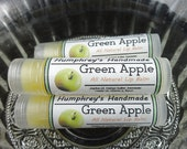 GREEN APPLE Lip Balm, Green Apple Flavor, Apple Lip Balm, All Natural Bee Balm, Great For Your Lips