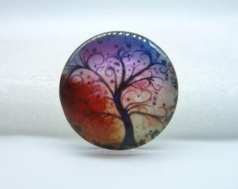 3pcs 25mm Handmade Photo Glass Cabochons (Life Tree) GH 6-22
