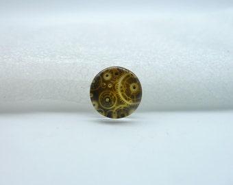 10pcs 12mm Handmade Photo Glass Cabochons(Gear)  GB8-34
