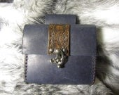 In-Stock Blue  Medieval Belt Bag, Belt Pouch Small, Leather Bag, LARP, SCA, Costume, Ren Faire