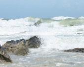 Photography Print... 11x14 Crashing Ocean Waves