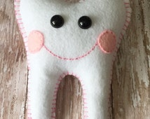 Tooth Fairy Pillow With Custom Name (up to 7 letters) --- Pick your color