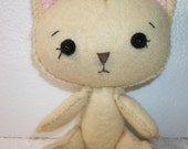 Caramel  Felt Kitty