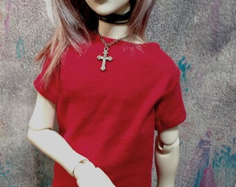 SD/SD13/60cm BJD Plain Red Shirt
