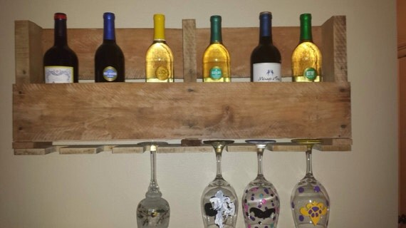 Wine Rack Rustic Modern - Wine Glass Holder