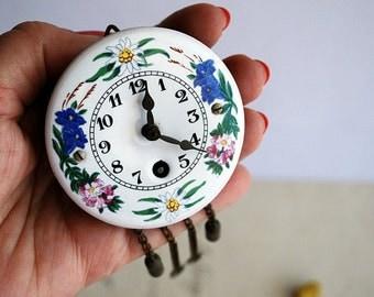 Vintage Enamelled Swiss Clock Face