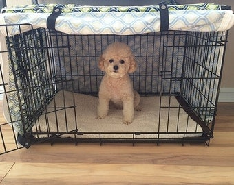 New Designer Green Blue Swivel Dog Pet Wire Kennel Crate House Cover ONLY Fit 5 sizes