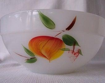 Vintage Fire King bowl, fruit pattern