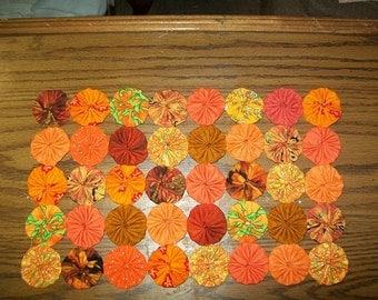 Autumn Orange Table Topper