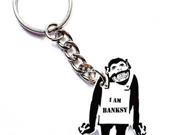 I am Banksy keychain