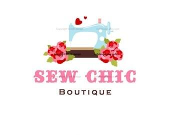 SALE  Premade Logo Design- Sew Chic