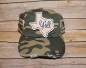 TEXAS CAMO HAT with Script Y'all