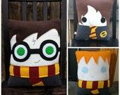 Wizard pillow, Harry, Hermione, Ron ,Luna, Draco, plush, Decorative Pillow