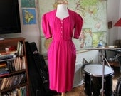Hot Pink Sweet Heart Dress with Pockets