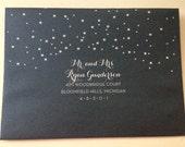 12 envelopes WHITE ink on Violette envelopes Especially for Jennifer