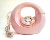 Handbag  Phone, Donut Phone, Mid Century Phone, Pink Retro Phone