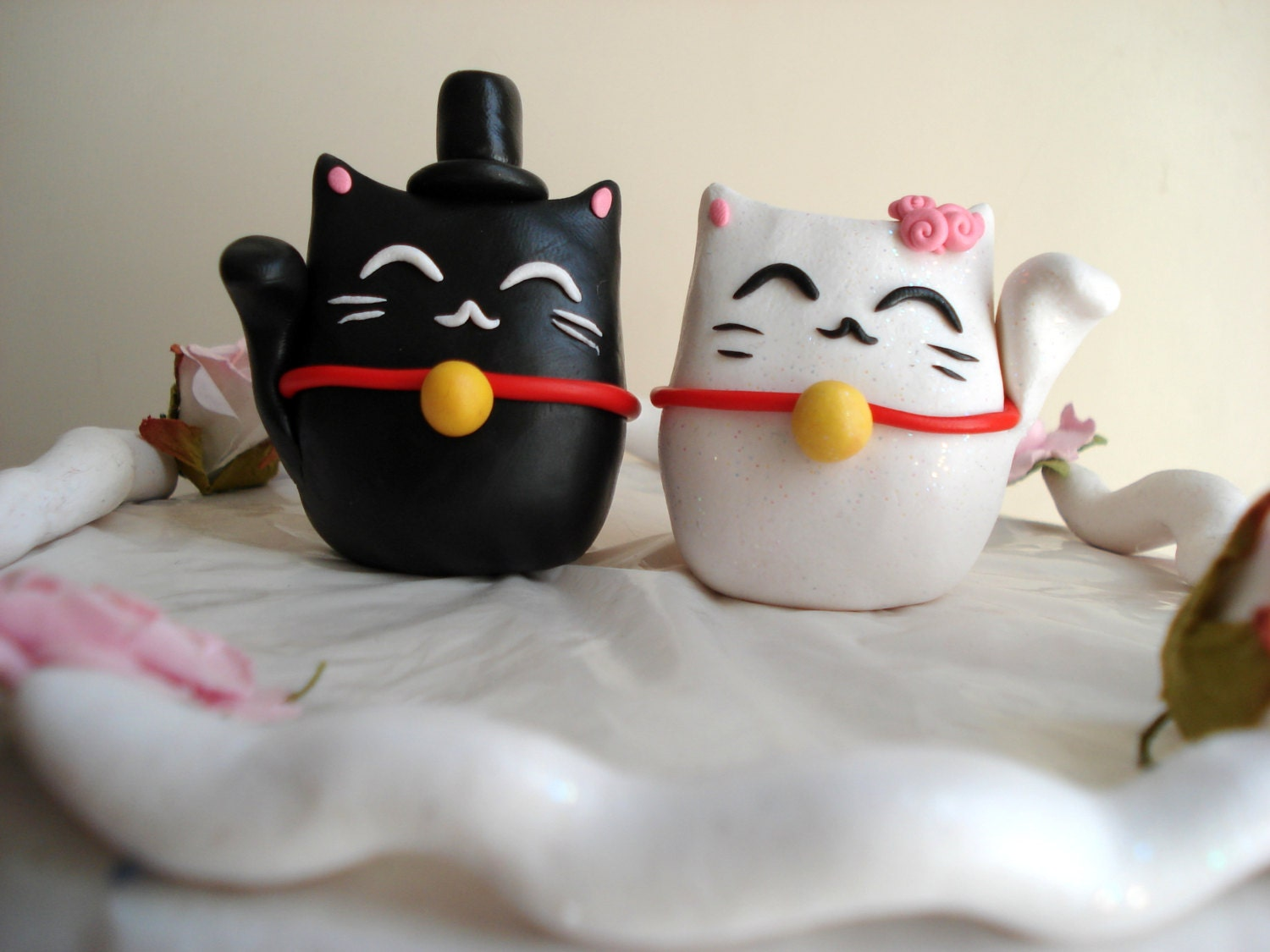 Lucky Cat Cake Toppers Wedding Decorations Cake by ...