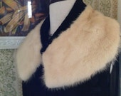 Fur collar on black wool boucle base