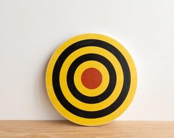 Target Circle Art Block - Yellow/Black/Red - archery target, bull's eye, colorway #15