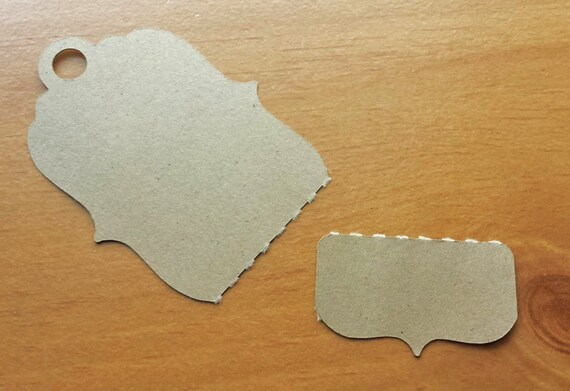 24 kraft paper tags large perforated tags for craft fairs for Price tags for craft shows
