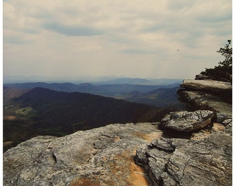 Virginia photography, McAfee Knob, rock formation, Virginia art, Applachian trail photography, nature photo