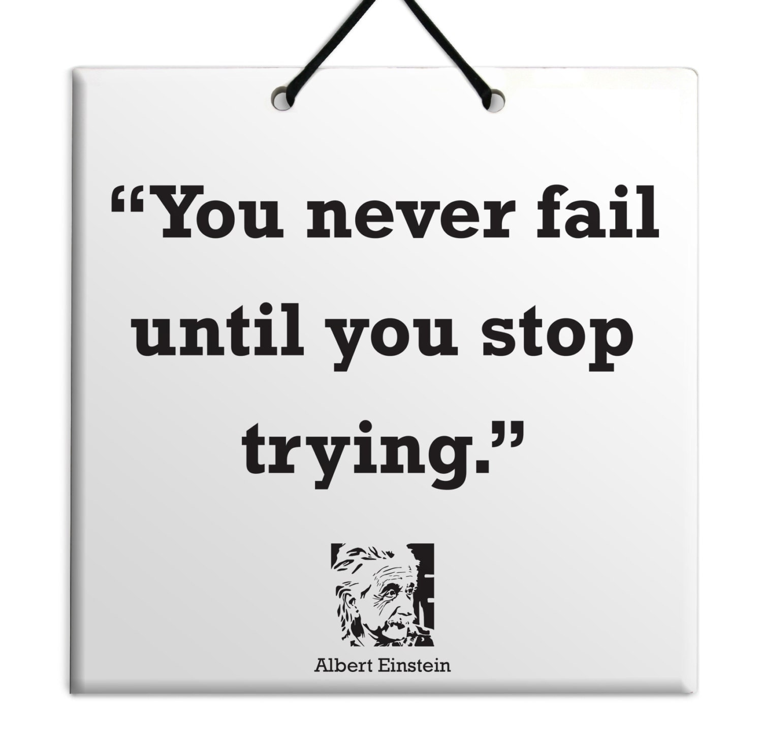Inspirational Quotes About Failure: Albert Einstein You Never Fail Until You Stop Trying Quote