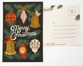 Christmas Ornaments postcard 1pc