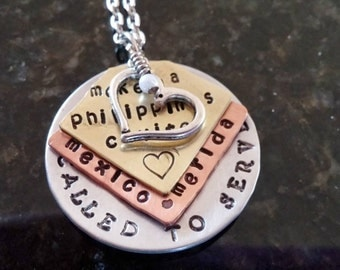 Service missionary teaching necklace