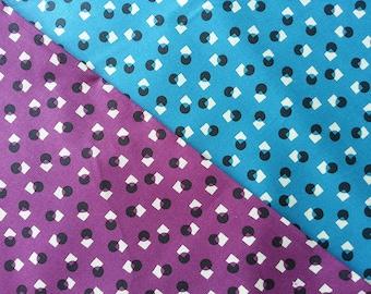 Japanese Cotton Fabric, Retro Fabric, Yuwa Fabric, Geometric Fabric, Dress Fabric, Polka dot Fabric, Monochrome Fabric/Square Dot/a yard