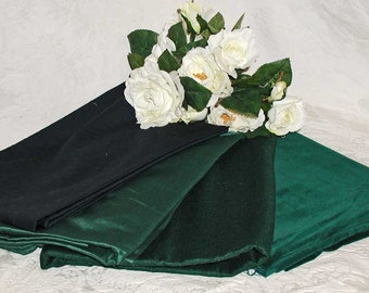 Lot of Fabric Remnants in Rich Dark Green and 1 Navy With Mario Buatta Samples in Florals