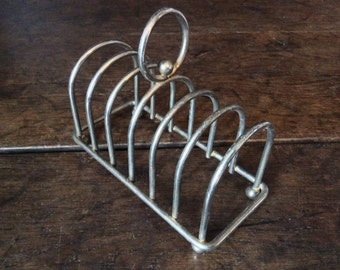 Vintage English Metal Breakfast Toast Rack Circa 1960's / English Shop